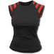 Gothic Rock Red Stripped Sleevless Women's Small Sleeveless Top - Black - Image 2
