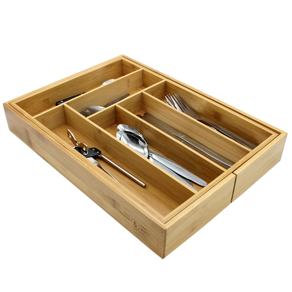 Bamboo Extending Cutlery Drawer Tray | M&W - Image 5