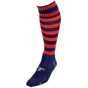 Precision Navy/Red Hooped Pro Football Socks Adult