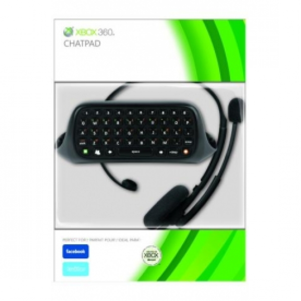 Messenger Kit Includes Chatpad Keyboard + Headset BLACK Xbox 360 Elite Official