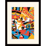 Crash Bandicoot - Posterized Mounted & Framed 30 x 40cm Print