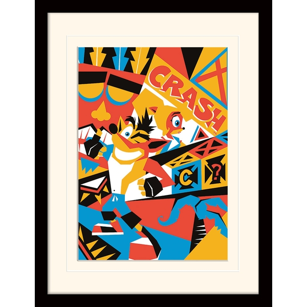 Crash Bandicoot - Posterized Mounted & Framed 30 x 40cm Print - Image 1