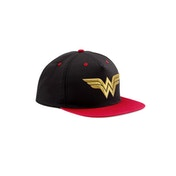 Wonder Woman - 3D Gold Logo Men's  Snapback - Black