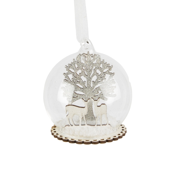 Sass & Belle Winter Forest Fawn Dome Bauble