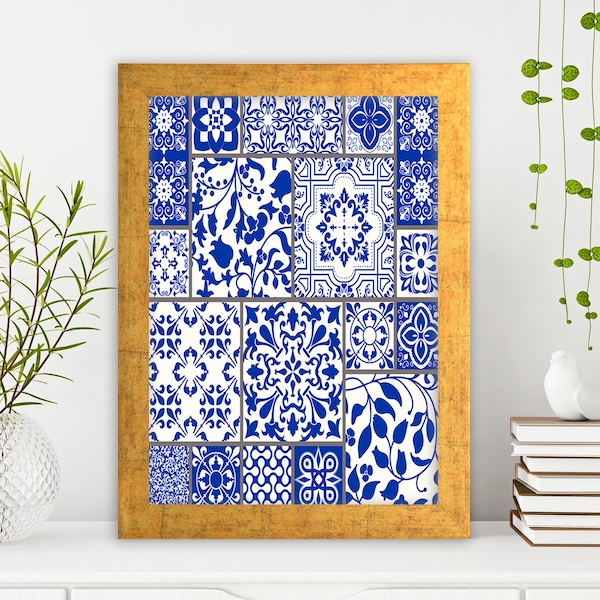 AC1007444125 Multicolor Decorative Framed MDF Painting