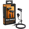 Canyon Earphones with Microphone Black
