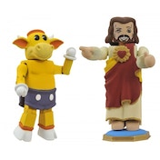 Jay and Silent Bob Minimates Mooby and Buddy Christ Mini-Figure 2-Pack