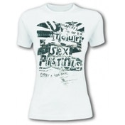 Sex Pistols Flag Tour Women's X-Large T-Shirt - White