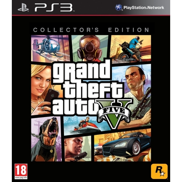 Grand Theft Auto GTA V (Five 5) Collector's Edition Game PS3