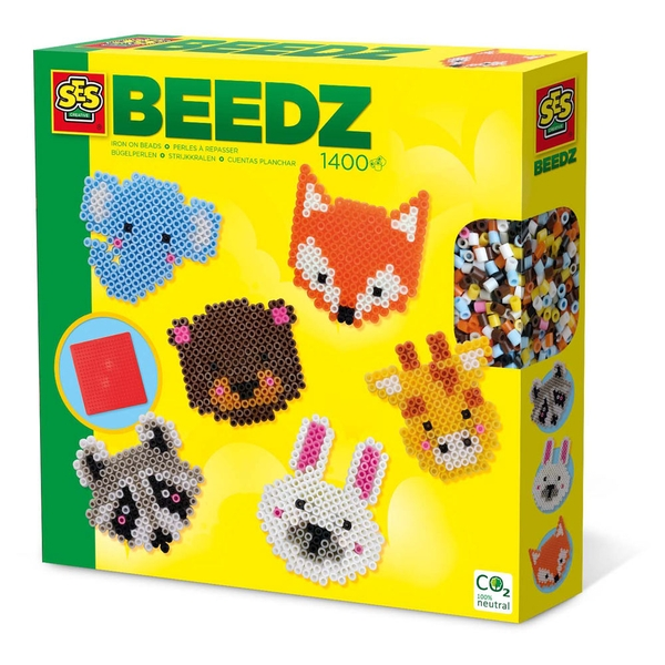 SES Creative Beedz Children's Iron-on Beads Cute Animals Mosaic Kit Activity Set
