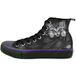 Bright Eyes Women's Size 7 UK (40 EU) High Top Laceup Shoes - Black/ Purple - Image 2