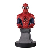 Marvel Comic style Spiderman Cable Guy on Plinth