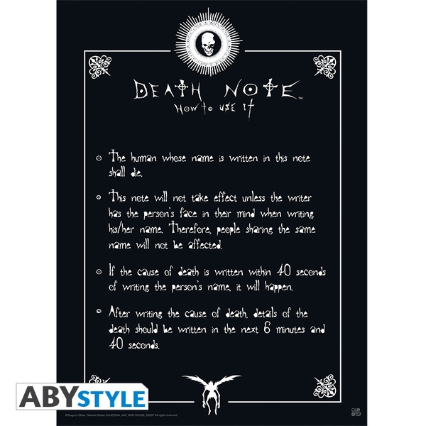Death Note - Rules Small Poster