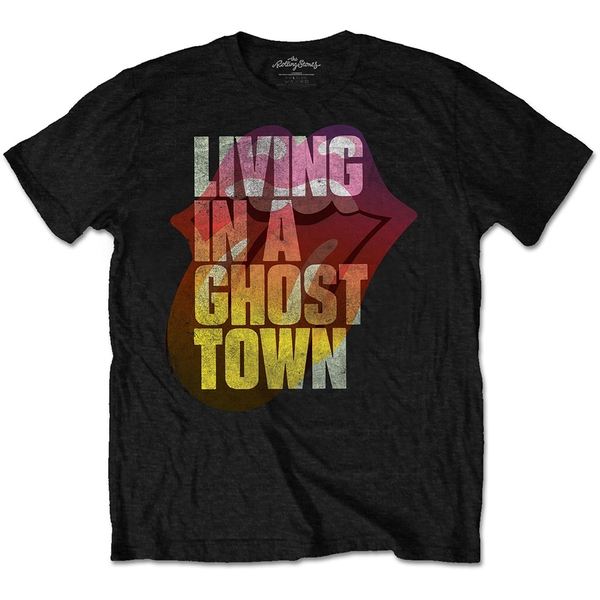 The Rolling Stones - Ghost Town Unisex Small T-Shirt - Black