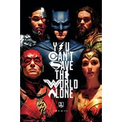 Justice League Movie Faces Maxi Poster