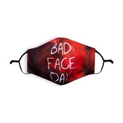 Bad Face Day Printed Face Mask