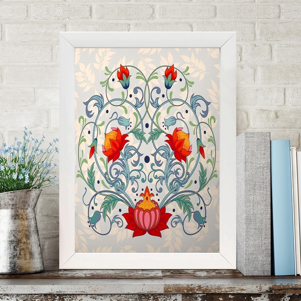 BC408210385 Multicolor Decorative Framed MDF Painting