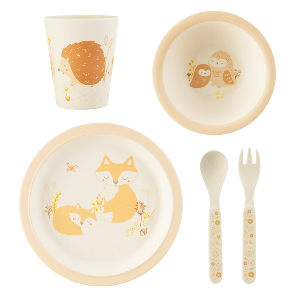Sass & Belle Woodland Baby Bamboo Tableware Set