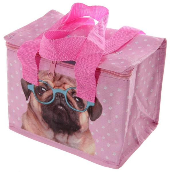 Fun Pink Pug Design Lunch Box Cool Bag