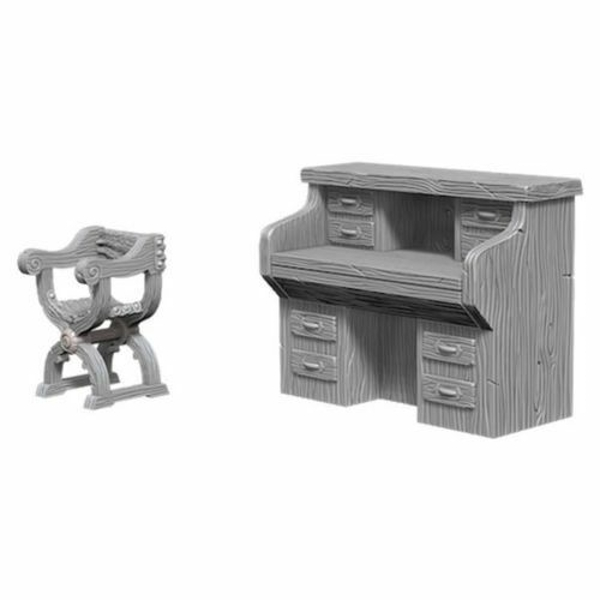 Pathfinder Deep Cuts Unpainted Miniatures - Desk and Chairs
