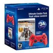 God Of War Saga Collection Game and Official Sony Red Wireless Dualshock Controller PS3 (#)