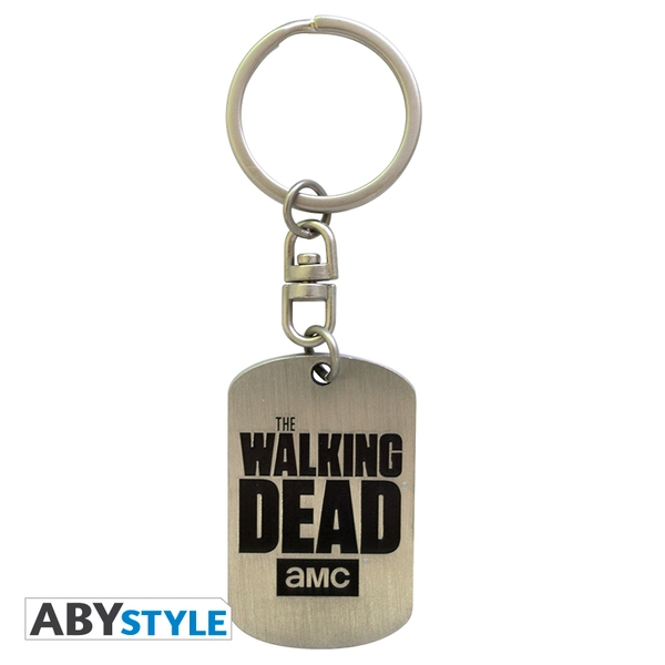 The Walking Dead - Dog Tag Logo Metal Keyring