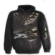 Bone Slasher Allover Men's X-Large Hoodie - Black