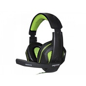 Approx APPGH7G 3.5 mm Binaural Black and Green Headset