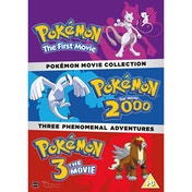 Pokemon Movie Collection DVD (Pokemon The First Movie, Pokemon The Movie 2000, Pokemon 3 The Movie)