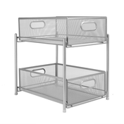 2 Tier Sliding Steel Shelves | M&W