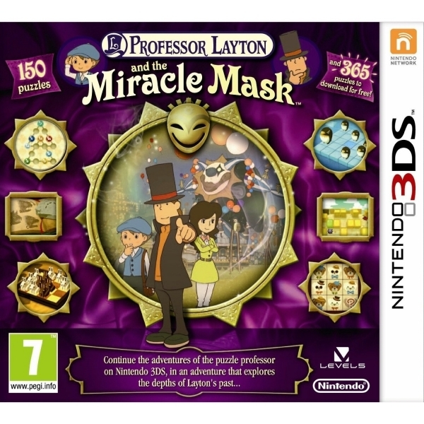 Professor Layton And The Miracle Mask 3DS Game