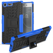 Sony Xperia XZ Premium Tough Kickstand Combo Case - Blue and Black