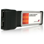 2 Port ExpressCard 1394a FireWire Laptop Adapter Card