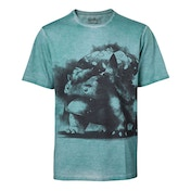 Pokemon - Venusaur Oil Washed Men's XX-Large T-Shirt - Turquoise