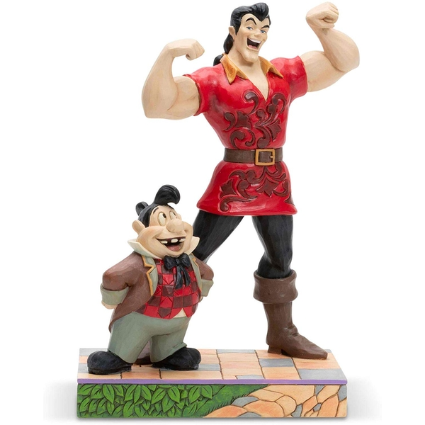 Gaston and Lefou Muscle-Bound Menace (Beauty And The Beast) Disney Traditions Figurine