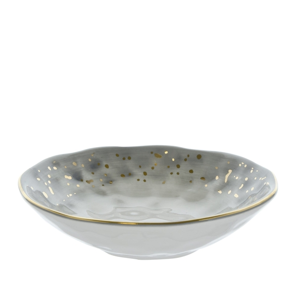 Dimpled Tapas Bowl Black and Gold 15cm