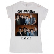 One Direction Four Ladies White T Shirt: Medium