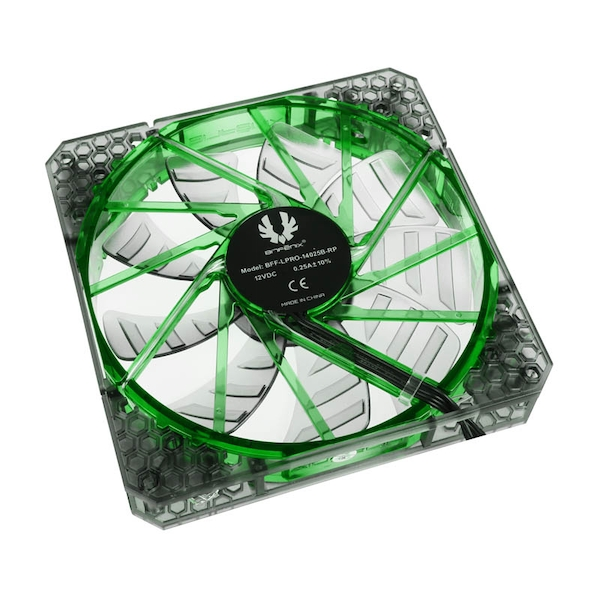BitFenix Spectre PRO 140mm Green LED - Black