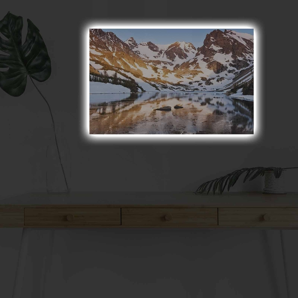 4570DHDACT-129 Multicolor Decorative Led Lighted Canvas Painting