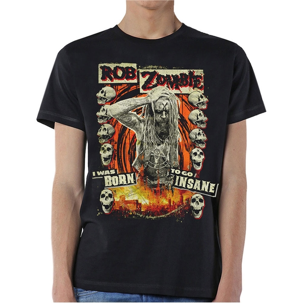 Rob Zombie - Born to Go Insane Unisex Medium T-Shirt - Black