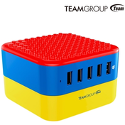 Team WD02 Brick 5 Port USB Smart Quick Charger UK Plug