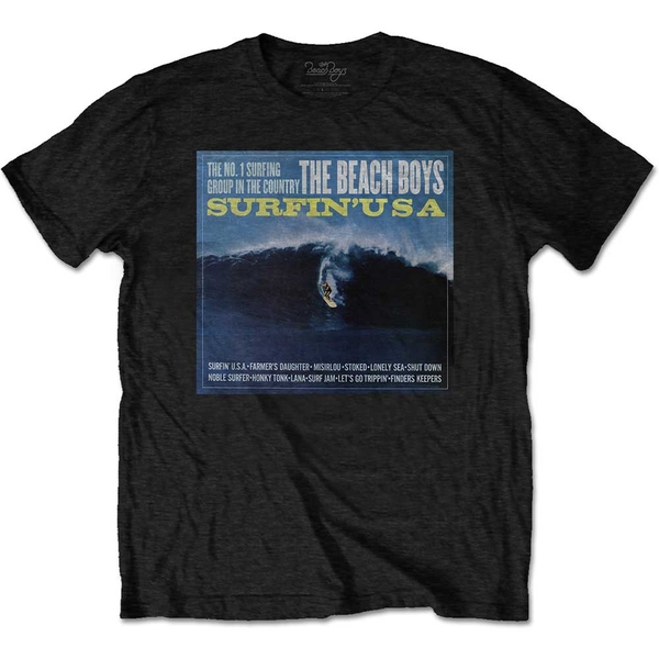 The Beach Boys - Surfin' USA Men's XX-Large T-Shirt - Black
