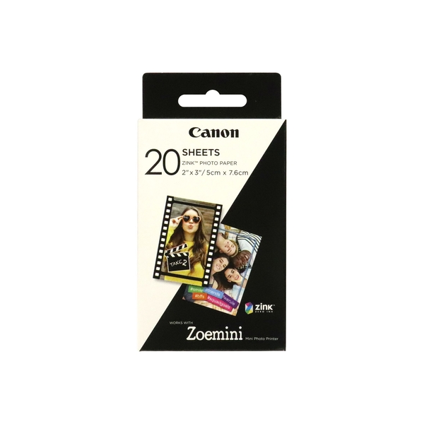 Image of Canon Zoemini Zink Photo Paper 20 Sheet Pack