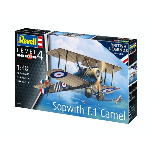 Sopwith Camel 100 Years RAF (British Legends) 1:48 Revell Model Kit