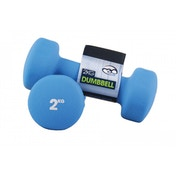 Yoga-Mad Neoprene Dumbbells 2KG