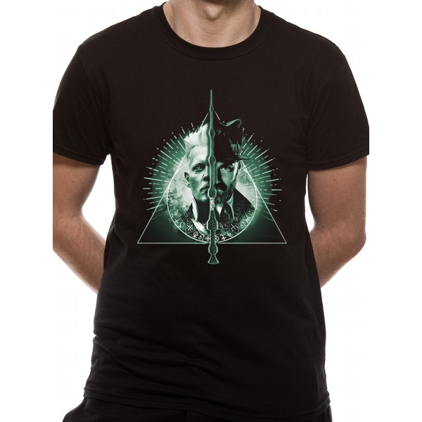 Crimes Of Grindelwald - Deathly Hallows Split Men's X-Large T-Shirt - Black