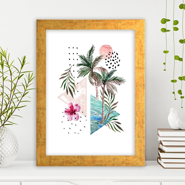 AC1068707798 Multicolor Decorative Framed MDF Painting
