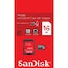 SanDisk microSDHC 16GB Memory Card Class 4 with SD Adapter - Image 3
