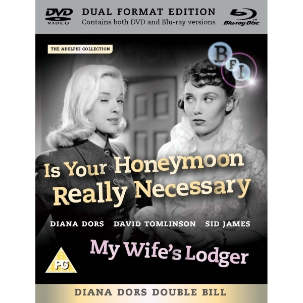 Diana Dors Double Bill Is Your Honeymoon Really Necessary? / My Wife's Lodger Blu-Ray