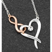 Kiss Collection 2 Tone Hearts & Kisses Necklace